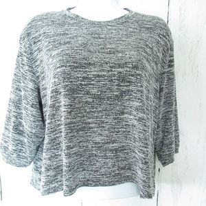 Wilfred Free Aritzia Crop Top Gray Black Heather